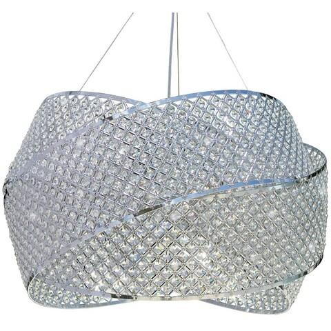 Miami Beach 8-light Crystal Ring Chandelier