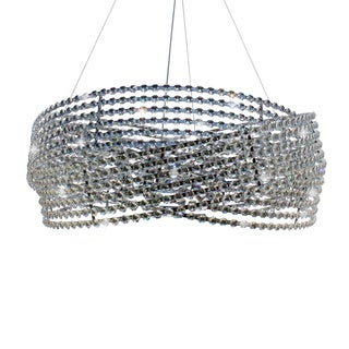 Diamante 6-light Chrome 3-ring Crystal Chandelier