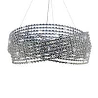 Diamante 6-light Chrome 3-ring Crystal Chandelier