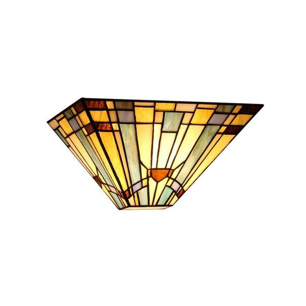 Chloe Tiffany Style Mission Design 1 Light Wall Sconce