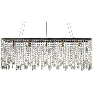 40-inch Antique Brass Suspension Linear Chandelier