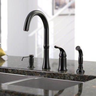 Link to Sir Faucet 4-hole Widespread Kitchen Faucet Similar Items in Faucets