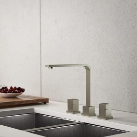 Sir Faucet Chrome Double Handle Kitchen Faucet