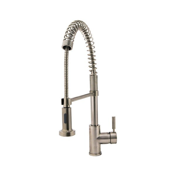 pull faucets struct handle p delta home with single in down en chrome spout spring kitchen faucet