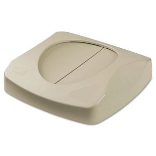 Rubbermaid Commercial Beige 16-inch Square Swing Top Lid for Untouchable Recycling Center