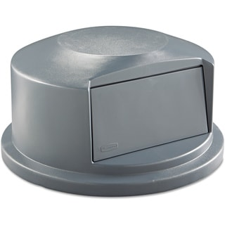 Rubbermaid Commercial Grey 24 13/16 x 12 5/8 Round Brute Push Door Dome Top Receptacle