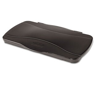 Rubbermaid Commercial Black 20 3/8 x 11 3/8 x 2 3/4 Hinged Lid for Vented Slim Jim