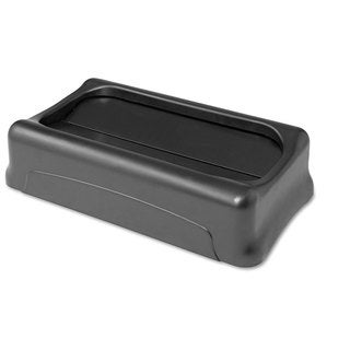 Rubbermaid Commercial Black 11 3/8 x 20 3/8 Swing Top Lid for Slim Jim Waste Containers