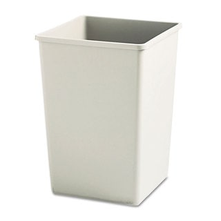 Rubbermaid Commercial Beige Square Rigid Liner Plaza 35-gallon Waste Container
