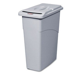 Rubbermaid Commercial Slim Jim Confidential Document 23-gallon Receptacle with Lid