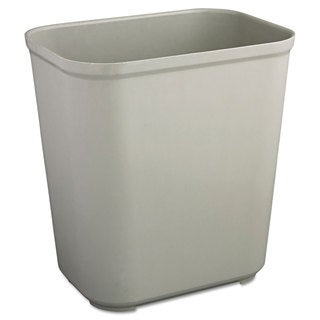 Rubbermaid Commercial Grey Fire-resistant 7-gallon Wastebasket