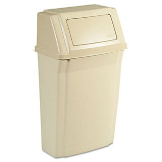 Rubbermaid Commercial 15GL Beige Slim Jim Wall-mounted 15GL Container