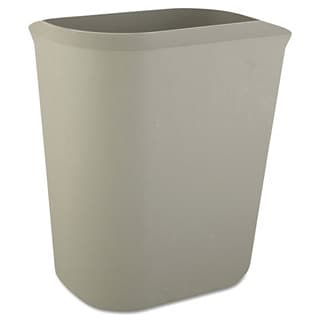 Rubbermaid Commercial Grey Fire-resistant Rectangular 3.5-gallon Wastebasket