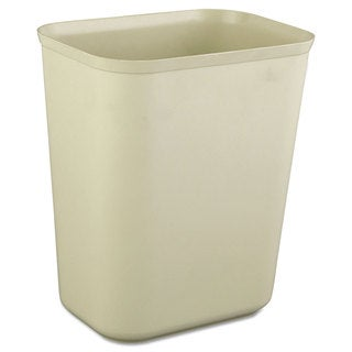 Rubbermaid Commercial Beige Fire-resistant 1.75-gallon Wastebasket