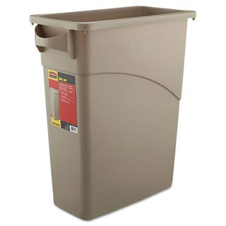 Rubbermaid Commercial 15.875GLBeige Slim Jim Waste Receptacle