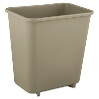 Rubbermaid Commercial Beige Deskside Plastic 2-gallon Wastebasket