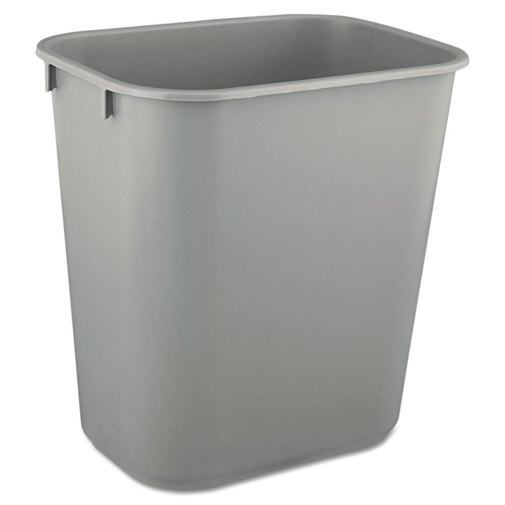 Rubbermaid Commercial Grey Deskside Plastic 3.5-gallon Wa...