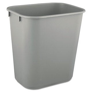 Rubbermaid Commercial Grey Deskside Plastic 3.5-gallon Wastebasket