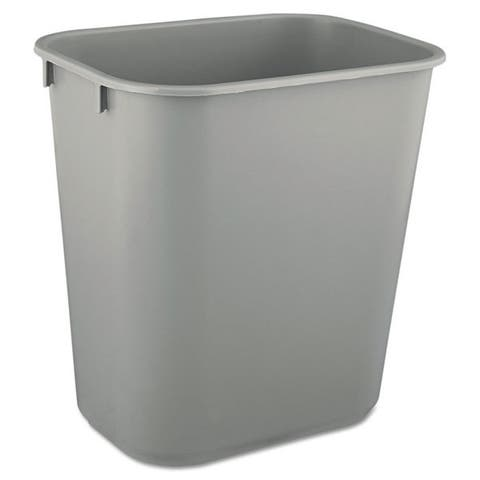 Rubbermaid Commercial Grey Deskside Plastic 3.5-gal Wastebasket