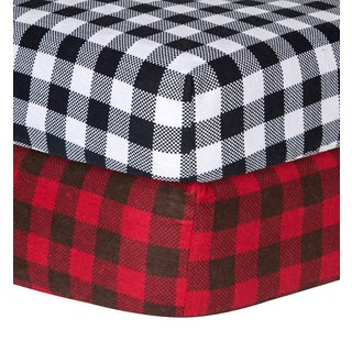 Shop Trend Lab Checkered Flannel Crib Sheet Free