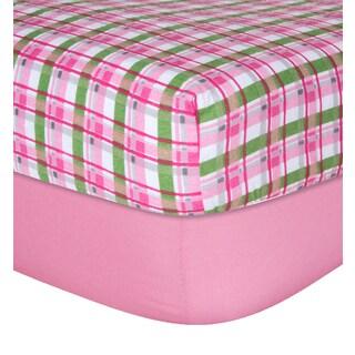 Trend Lab Girls' Pink Flannel Crib Sheet (Set of 2)