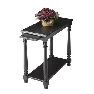 Black Licorice Wood Chairside Table