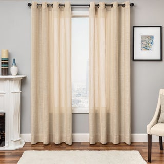 Softline Northridge Faux Linen Grommet Top Curtain Panel