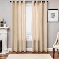 Softline Northridge Faux Linen Grommet Top Curtain Panel