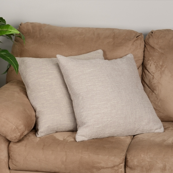 Decorative Pillow Filling : Brandon Feather Filled Decorative 20-inch Throw Pillows (Set of 2) - Free Shipping Today ...