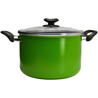 Epoca EEGN-4508 Ecolution Elements 8-quart Green Stock Pot with Glass Lid