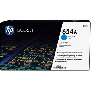 HP 654A Original Toner Cartridge - Cyan