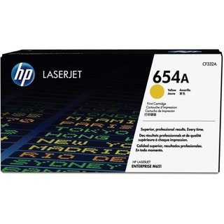 HP 654A Original Toner Cartridge - Yellow