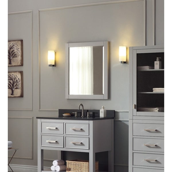"Avanity 24 in. Wall Mirror in White or Chilled Gray - 24""W x 30""H"