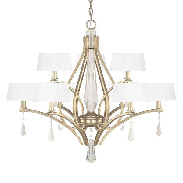 Capital Lighting Margo Collection 9-light Winter Gold Dual Chandelier - N/A