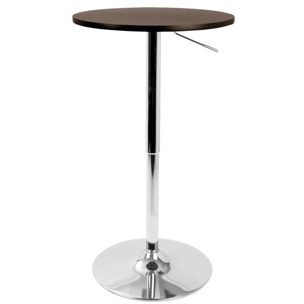 Elegant LumiSource 23 Inch Wood Top Adjustable Bar Table