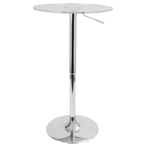 Lumisource 23 Inch Clear Acrylic Adjule Bar Table