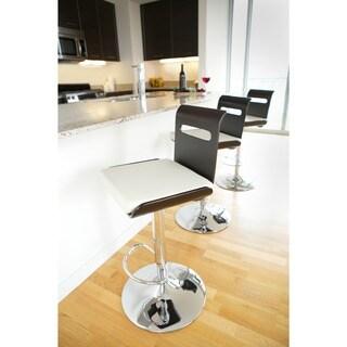 Viera Mid-century Modern Adjustable Wood Barstool