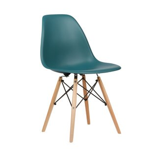 Edgemod Vortex Dining Side Chair Natural Wood Leg (Set of 2)