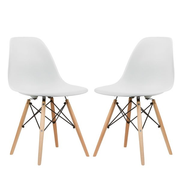 Poly and Bark Vortex Dining Chair Natural Wood Leg (Set of 2)