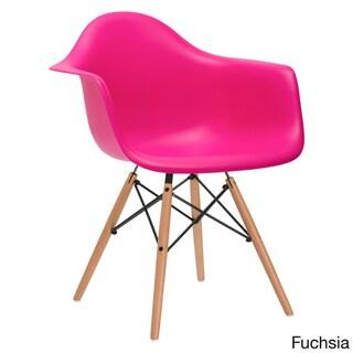 Edgemod Vortex Dining Arm Chair Natural Wood Leg (Set of 2)
