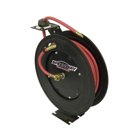 Speedway Retractable Air Hose Reel with 3/8 inch x 50 ft Hose