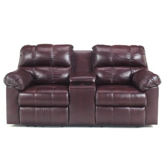 Signature Designs by Ashley Kennard Double Reclining Power Loveseat with Console
