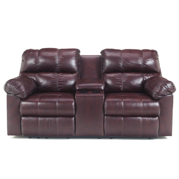 Signature Designs by Ashley Kennard Double Reclining Loveseat with Console  sc 1 st  Overstock.com : double reclining loveseat - islam-shia.org