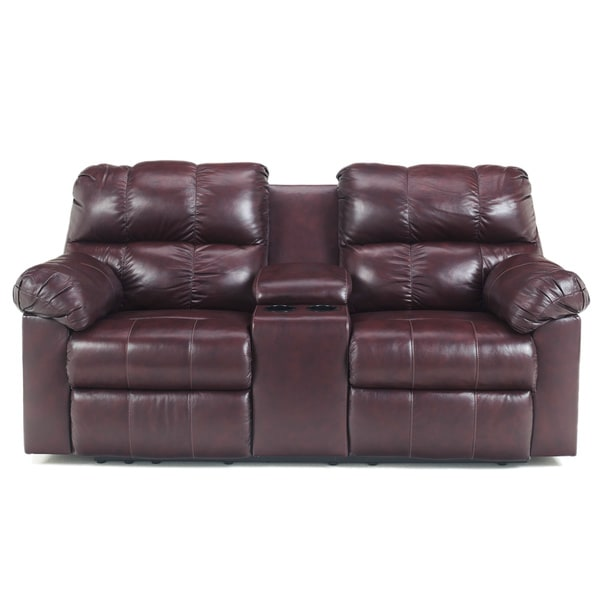 Signature Designs by Ashley Kennard Double Reclining Loveseat with Console