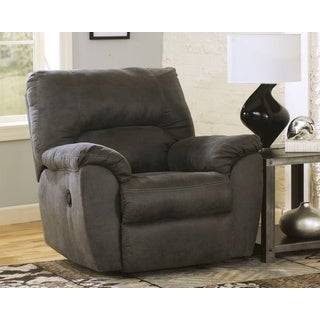 Signature Design by Ashley Tambo Pewter Rocker Recliner