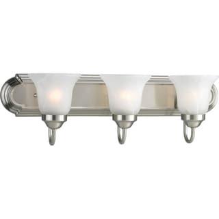 Progress Lighting 3-light Brushed Nickel Bath Light