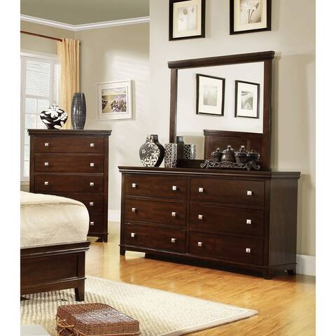 Furniture of America Lend Transitional 2-piece Dresser and Mirror Set