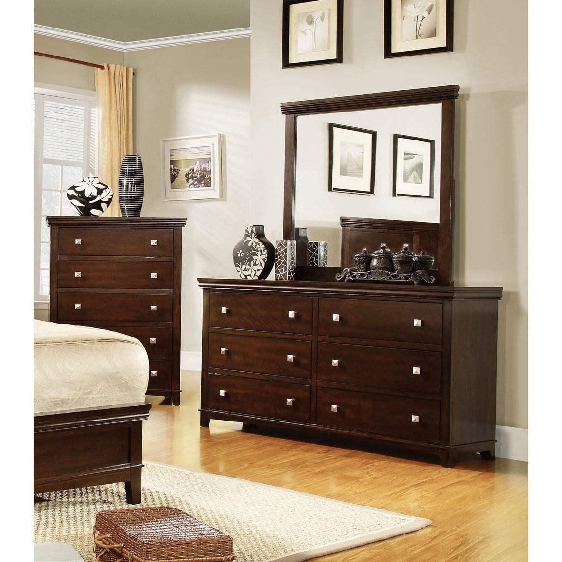 Furniture Of America Tranzio Natural 2 Piece Dresser And Mirror Set