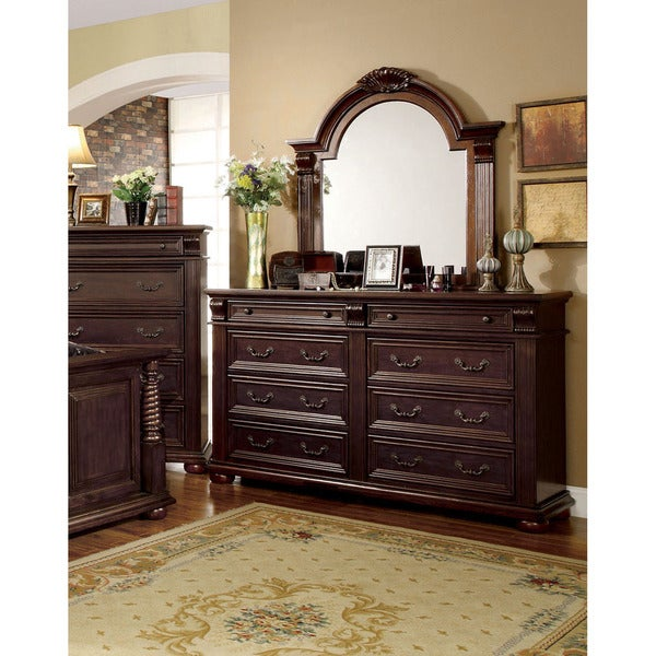 Furniture of America Angelica English Style Brown Cherry 2