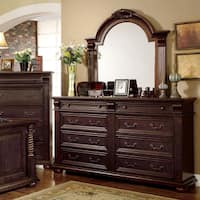 Angelica Traditional Cherry 2-piece Dresser and Mirror Set by FOA